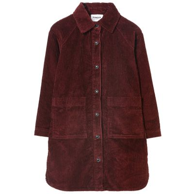 Cord Dress Ivy Burgundy by Finger in the Nose-4/5Y