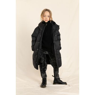 Down Coat Snowlong Absolute Black by Finger in the Nose