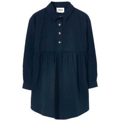 Shirt Dress Darlin Navy by Finger in the Nose