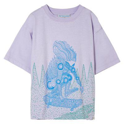 T-Shirt King Lavender Skate by Finger in the Nose-4/5Y
