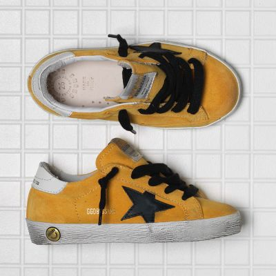 Sneakers Superstar Sunflower Suede Black Star by Golden Goose Deluxe Brand