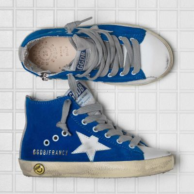 Sneakers Francy Blue Electric Suede White Star by Golden Goose Deluxe Brand-24EU