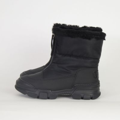 Fur Lined Boots Snow Black by Gallucci