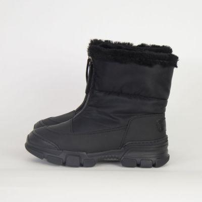 Fur Lined Boots Snow Black by Gallucci-30EU