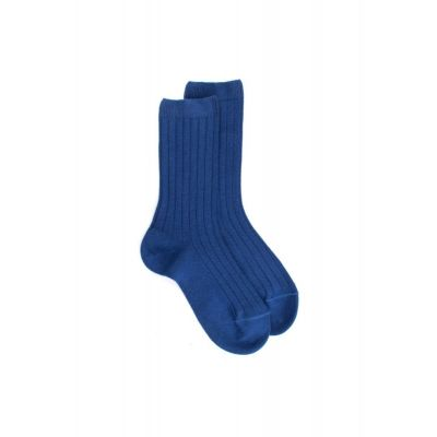 Ribbed Cotton Socks Marine Blue by Dore Dore