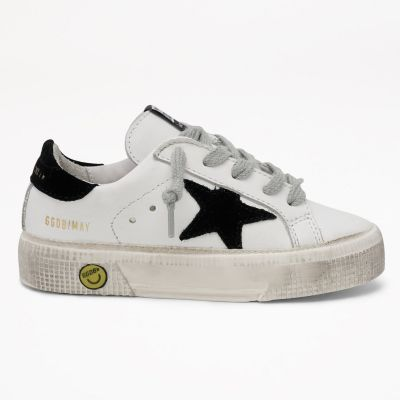 Sneakers May Leather Upper Suede Black Star by Golden Goose Deluxe Brand