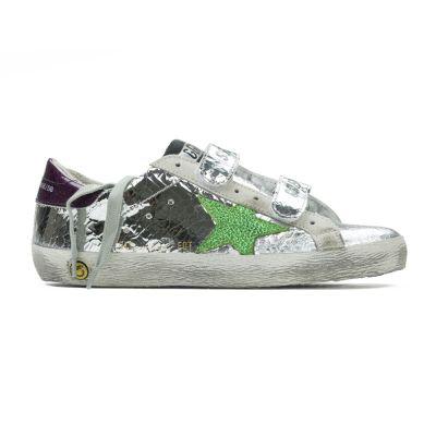 Sneakers Old School Silver Wall Green Star-24EU
