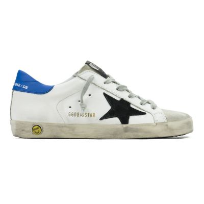 Sneakers Superstar White Leather Black Star by Golden Goose Deluxe Brand