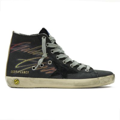 Sneakers Francy Black Canvas Smile by Golden Goose Deluxe Brand