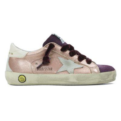Sneaker Superstar Powder Leather Cream Star by Golden Goose Deluxe Brand