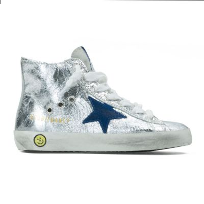Sneaker Francy Igloo Leather Blue Star by Golden Goose Deluxe Brand