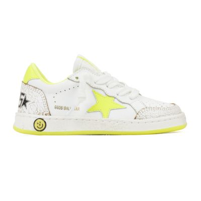 Sneaker Ballstar White Leather Yellow Flourish by Golden Goose Deluxe Brand