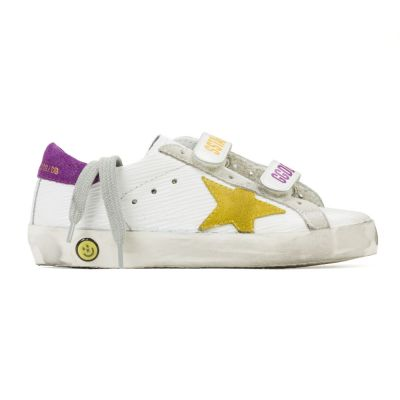 Sneakers Superstar Old School Corteccia Leather Yellow Star by Golden Goose Deluxe Brand