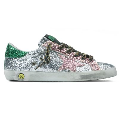 Sneaker Superstar Multi Glitter Leopard Laces by Golden Goose Deluxe Brand