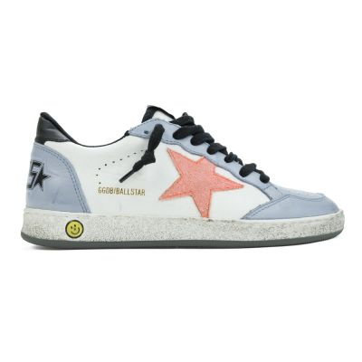 Sneaker Ballstar White Grey Peach Star by Golden Goose Deluxe Brand