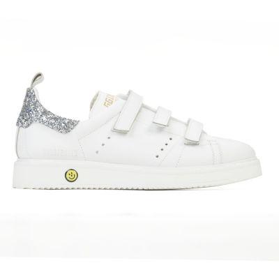 Sneakers Smash White Silver Glitter -24EU