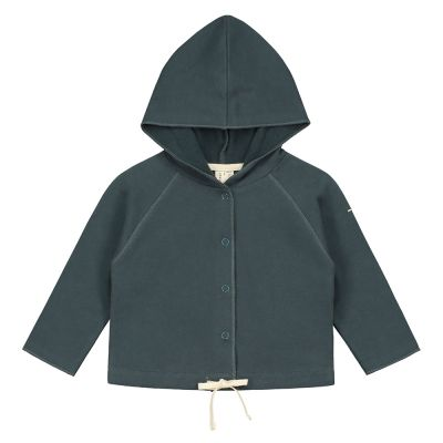 Baby Hoodie Blue Grey by Gray Label