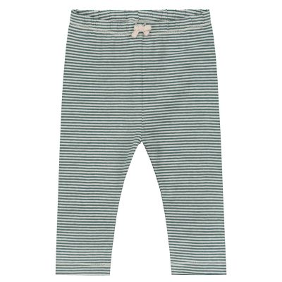 Baby Leggings Blue Grey/Cream by Gray Label