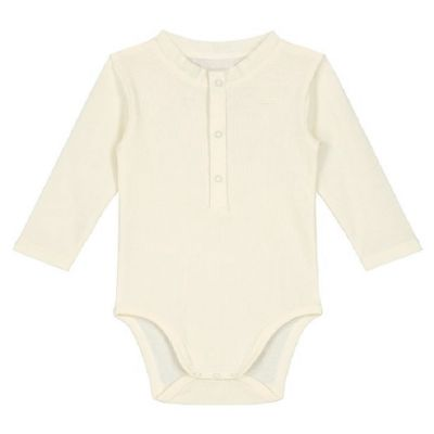 Baby Long Sleeves Henley Body Cream by Gray Label-3M
