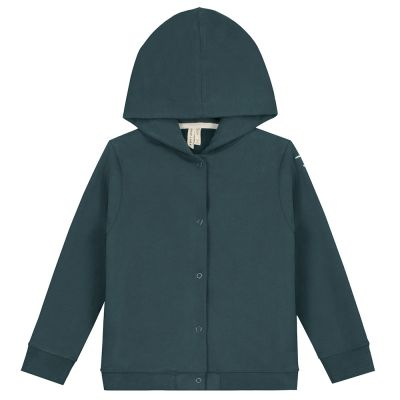 Baby Hooded Cardigan Blue Grey by Gray Label