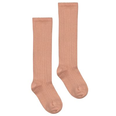 Long Ribbed Socks Rustic Clay by Gray Label-18EU