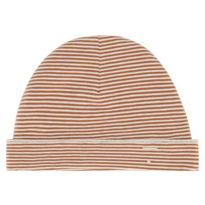 Baby Beanie Autumn/Cream Striped by Gray Label