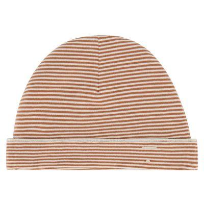 Baby Beanie Autumn/Cream Striped by Gray Label-6M