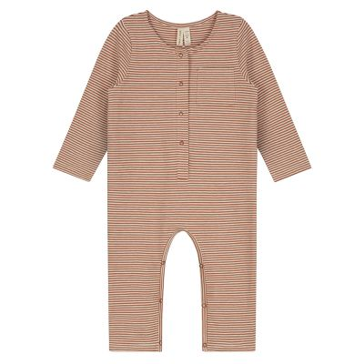 Baby Playsuit Autumn/Cream Striped by Gray Label