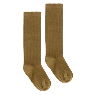 Long Ribbed Socks Peanut by Gray Label-18EU