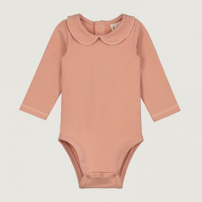 Baby Collar Onesie Rustic Clay by Gray Label
