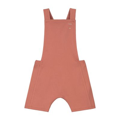 Baby Short Jersey Salopette Faded Red-3M