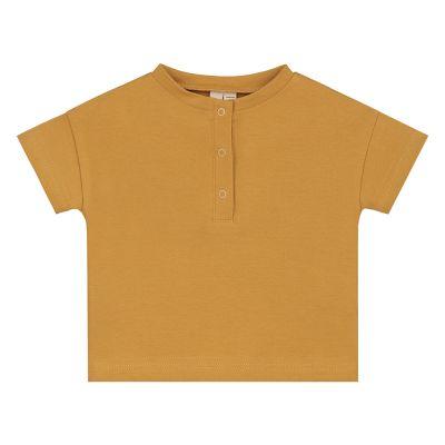 Baby Henley Tee Mustard-3M