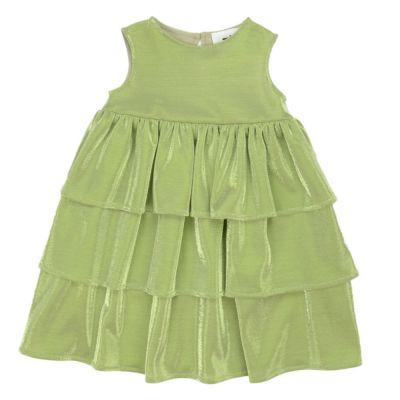 Dress Siluro Green Lurex by Touriste