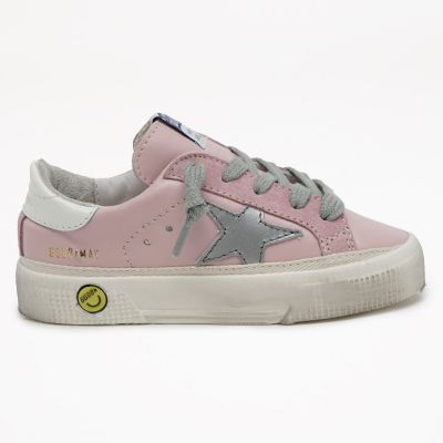 Sneakers May Pink Leather Upper Grey Star by Golden Goose Deluxe Brand