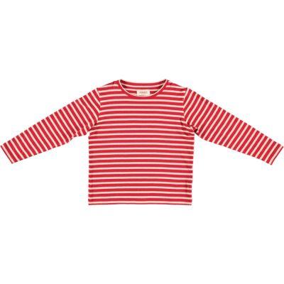 T-Shirt Judd Red Cream Stripes-4Y
