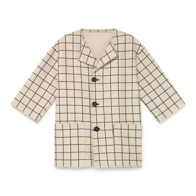 Oversized Plaid Jacket Cream by Little Creative Factory