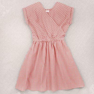 Dress Adele Pink Gingham Check by Ketiketa-4Y