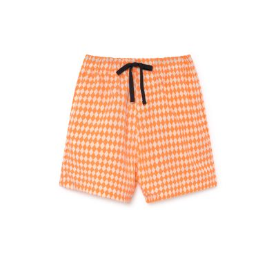 Tiny Diamond Bathing Shorts Neon by Little Creative Factory-4Y