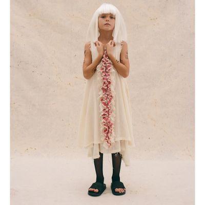 Candy Ruffle Dress Cream by Little Creative Factory