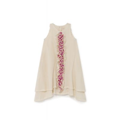Candy Ruffle Dress Cream by Little Creative Factory-4Y