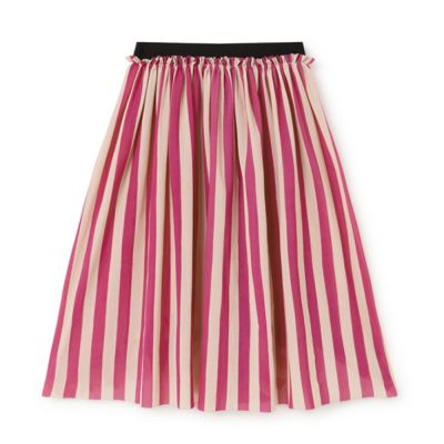 Playground Skirt Candy Pink Stripe by Little Creative Factory