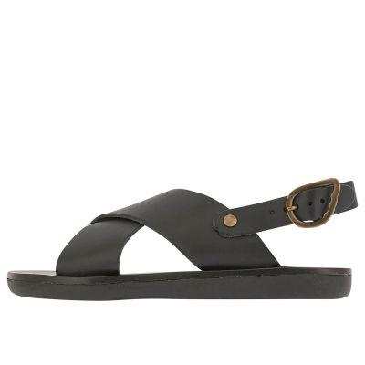 Little Maria Sandals Black by Ancient Greek Sandals