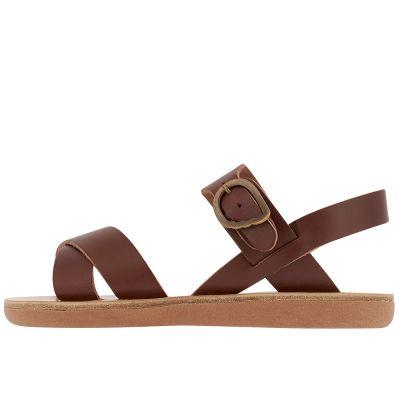 Little Socrates Sandals Chestnut by Ancient Greek Sandals
