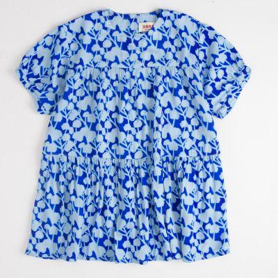 Dress Rain Blue Flowers by MAAN-4Y