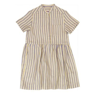 Dress Lentil Honey Blue Striped by Maan-4Y