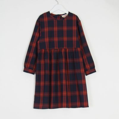 Dress Polly Red Blue Check by MAAN-4Y