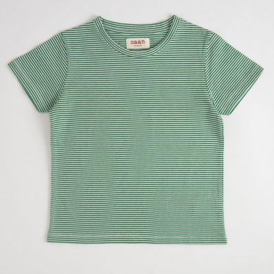 T-Shirt Green Stripe by MAAN-4Y