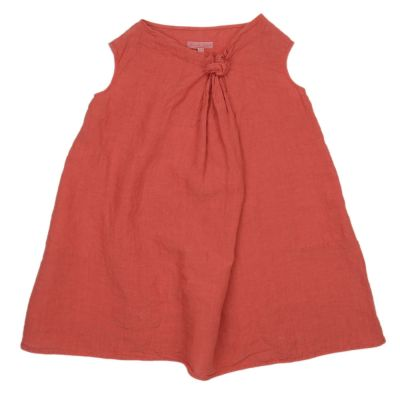 Sleeveless Linen Dress Coco Red by Manuelle Guibal