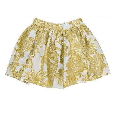 Skirt Ferrari Gold Flowers by Morley-4Y
