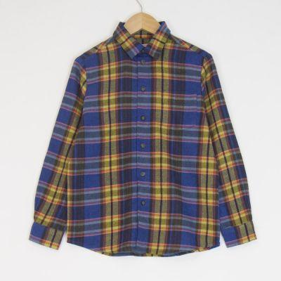 Shirt Ontario Melton Blue Check by Morley-4Y